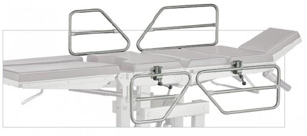 Seitengitter, Bettgitter 4- teilig zur Befestigung am OP-Tisch